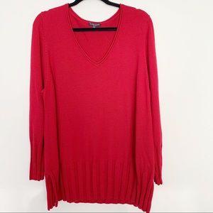 Eileen Fisher Ribbed Knit Merino Wool Sweater